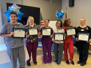 The Hillsborough County Nursing Home recognized and honored the inaugural class of six licensed nursing assistant (LNA) apprentices who recently completed the educational component of their apprenticeship program through ApprenticeshipNH.